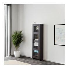 BRIMNES Glass-door cabinet IKEA With a glass-door cabinet, you can show off as well as protect your glassware or your favorite collection.