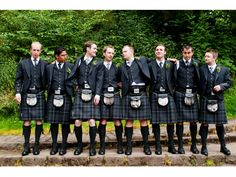 New Lanark Mill, Scottish Wedding Photography. Kilts and Sporrans! Nice!