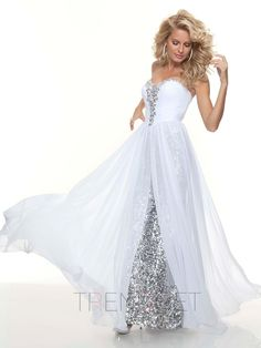 Sexy V-Neckline A-Line Sequins/Beadings Floor-Length Prom Dresses - $175.99 - Trendget.com