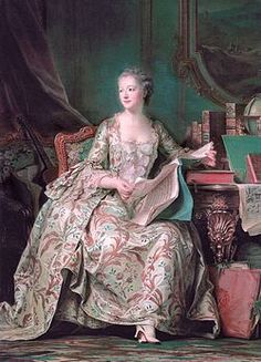 Jeanne Antoinette Poisson, Marquise de Pompadour, also known as Madame de Pompadour (29 December 1721 – 15 April 1764, French pronunciation: [pɔ̃.pa.duːʁ]) was a member of the French court and was the official chief mistress of Louis XV from 1745 to her death.