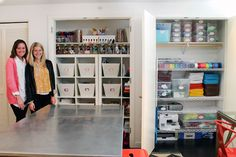 Before & After: The Ultimate Craft Closet via Brit + Co.