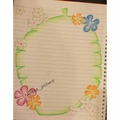 File Decoration Ideas, Page Decoration, Boarder Designs, Page Borders Design, Project Cover Page, Hanging Paper Flowers, Front Page Design, Borders For Paper, Decorate Notebook