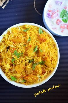 Potato pulao: Quick and easy recipe to make delicious potato pulao  Recipe @ http://cookclickndevour.com/potato-pulao-recipeeasy-way-how-to-make  #cookclickndevour #recipeoftheday #vegan