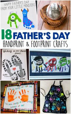 Father\'s Day Handprint And Footprint Crafts For Kids - I Heart Arts n Crafts