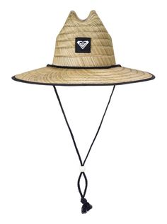 cfc1ab99198c Roxy Tomboy Straw Lifeguard Hat- Black World Surf