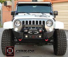 Proline 4WD 2007-2015 Jeep Wrangler JK Front Elite X Bumper with LED Mount