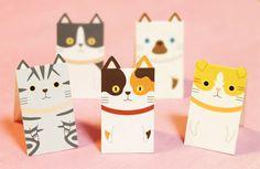 "Cat ""bookmark"" magnet BOOKMARKS: Hall: Walking sanpo Hall blog"