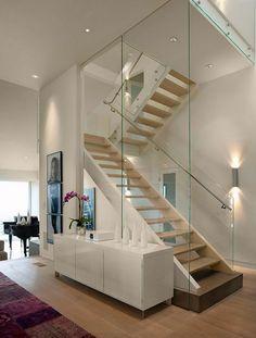 Escadas com vidro