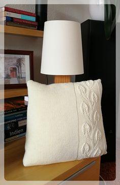 Now finally - the pillow, Diy Pillows, Floor Pillows, Decorative Pillows, Throw Pillows, Knitted Pouf, Knitted Cushions, Crochet Box, Knit Basket, Knit Pillow