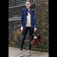 Olivia Palermo (p.s. I want to steal her jacket!)