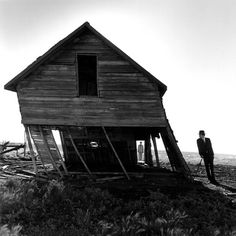 blackpicture:  Rodney Smith Leaning House. Alberta. Canada (2004)