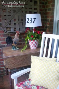 Solar Powered Front Porch Lamp ... {Oh and a Planter, Too!} | Hometalk