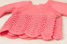 Hand knitted baby cardigan 100% merino by ByKristyna on Etsy
