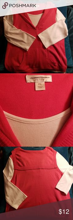 Christopher and Banks peach sailor neck nwot Christopher and Banks peach sailor neck top, cute basics Christopher & Banks Sweaters
