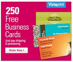 In store online extra 20 off with your jcpenney credit card get 250 free business cards from vistaprint just pay shipping reheart Gallery