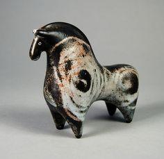 """Ceramic Horse 4.25""""   by Psychoceramicus"""