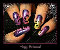 DIY halloween nails: DIY Halloween nail art : Happy Halloween
