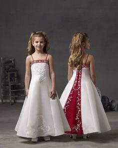 Barato Crianças vestidos de festa para meninas 8 anos branco e vermelho flor menina vestidos para casamentos crianças bordado menina vestidos de baile, Compro Qualidade Vestidos Da Menina de flor diretamente de fornecedores da China:  Crianças vestidos de festa para meninas 8anos branco e  Red Flower Girl Vestidos para casamentos crianças menina bordad