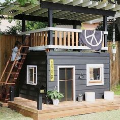 One-day backyard project ideas that spice up your outdoor space 26 . One-day backyard project ideas that spice up your outdoor space 26 One-day backyard project ideas that s. Kids Outdoor Play, Backyard For Kids, Backyard Projects, Home Projects, Backyard Ideas, Backyard House, Kids House Garden, Kids Yard, Family Garden