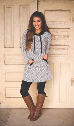 Dottie Couture Boutique - Fine Knit Hooded Tunic, $42.00 (http://www.dottiecouture.com/fine-knit-hooded-tunic/)