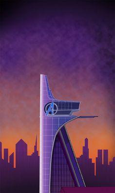 Avengers Tower by on DeviantArt Marvel Vs Dc Comics, Marvel Art, Marvel Avengers, Spiderman Marvel, Captain Marvel, Wallpaper Images Hd, Cartoon Wallpaper, Avengers Headquarters, Die Rächer