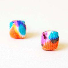 Neon Micro Stud Earrings by ashdel on Etsy, $20.00