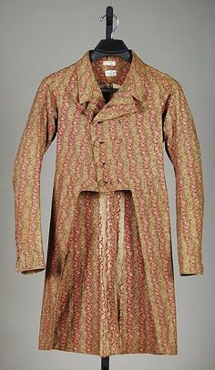 Morning frock coat, second quarter 19th century, American.