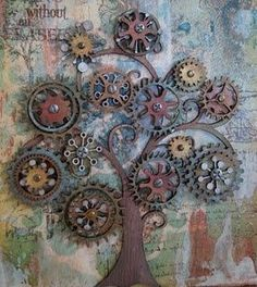 garden art from junk | cog art repinned from garden art by carol samsel Visit our online store here: