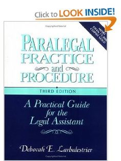 Love this book...very good! Paralegal Practice & Procedure: A Practical Guide for the Legal Assistant.