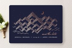 Golden Rockies Save the Date Cards by Rebecca Bowen at minted.com