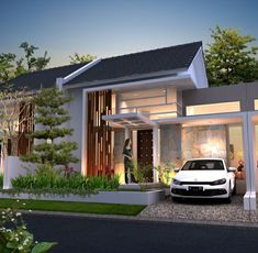 Design Exterior, Facade Design, Architecture Design, Loft House Design, Home Building Design, Little House Plans, Dream House Plans, Fasade House, Minimalis House Design