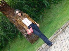 Anos 70: Casaco de Camurça e Calça Flare #gabimay #lookdodia #ootd