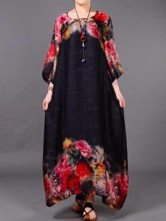 Dress Type: Loose Casual Comfy Length: Mid-Calf Neckline: Round Neck Sleeves: Half Sleeves Material: Silk Pieces: Two Pieces ( With Vest ) Season: Spring, Summe Mode Outfits, Dress Outfits, Maxi Dresses, Prom Dress, Wedding Dress, Mode Batik, Expensive Dresses, Mode Abaya, Quoi Porter