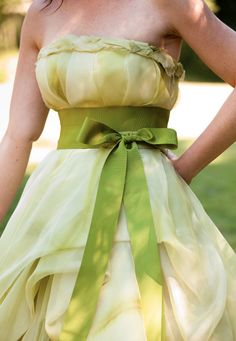 I love the idea of a colored wedding dress!  It wasn't until the 1800's that white became traditional.  Before that, they chose whatever color they wanted.