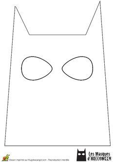 Le masque de Batman à colorier pour Halloween