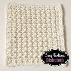 The Lacy Textures Dishcloth is a free crochet pattern that can be adjusted to any size that you need.
