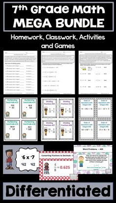 Number Words Worksheets 1-10 Excel Long Division Worksheet Bundle  Differentiated With Detailed  Worksheets On Multiplication For Grade 3 with Diffusion Worksheet Word Th Grade Math Bundle  Differentiated Worksheets Task Cards And Games Volume Of Rectangular Prism Worksheets Word