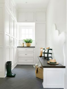 Mudroom with Custom Bench | Bria Hammel Interiors