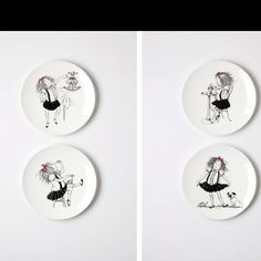 Eloise plates available at the Plaza hotel...... I need need need these!
