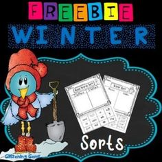 Winter Sorting: Winter Sorting pack is perfect for when undertaking units about Winter. The Winter sorts will assist students to consolidate their understanding of nouns, verbs and sight word recognition using various fonts. These Winter Sorting activities would be great to use in: literacy centers, homework or morning work.This Winter sorting pack includes: 2 cut and paste Winter sorting activities: sort the Winter themed words into nouns and verbs.