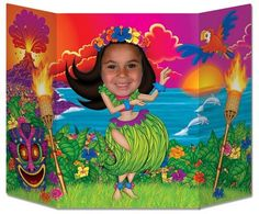 Hula Girl Photo Prop Party Accessory 1 count 1Pkg -- More info could be found at the image url.
