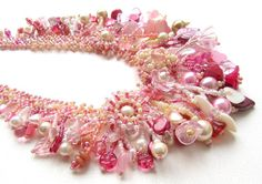 STUNNING!!  Lovely handwork!    Etsy listing at https://www.etsy.com/listing/119858444/berrylicious-garden-pink-and-cream