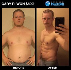 """::05/28/13:: OH MY ABS!!! Gary dropped 80 lbs in 7 months w/ #INSANITY! --> """"Seven months in, I had lost over 80 lbs., went from 49"""" waist down to 33"""", and the most amazing thing is—I HAVE ABS! Never in my life have I had a stomach like I do now."""" ENTER YOUR RESULTS TODAY FOR A CHANCE TO WIN!"""