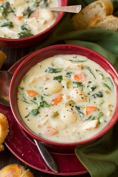Does soup get any more comforting than this? This Creamy Chicken and Gnocchi Soup makes for the perfectdinner any day of the weekand it's definitely one