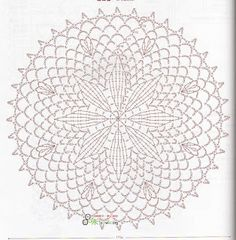 Doily Diagram - No linked pattern, just the image - but great if you can read them.This Pin was discovered by สุน Mandala Au Crochet, Crochet Circles, Crochet Doily Patterns, Crochet Diagram, Crochet Round, Mandala Pattern, Crochet Chart, Crochet Squares, Crochet Home