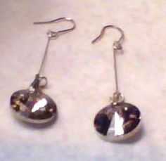 Silver and Crystal Disc Dangling Earrings by TJWFashionJewelry, $0.20