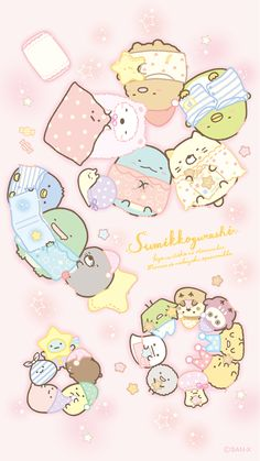 A corner Gurashi official web site Sanrio Wallpaper, Kawaii Wallpaper, Cute Wallpaper Backgrounds, Wallpaper Iphone Cute, Cute Cartoon Wallpapers, Griffonnages Kawaii, Anime Kawaii, Illustration Mignonne, Cute Illustration