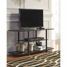 Ebern Designs Madison Cooperson TV Stand for TVs up to Low Shelves, Open Shelving, Shelf, Tv Stands, Queen Sofa Sleeper, Sofa Shop, At Home Store, Signature Design, Engineered Wood
