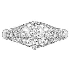 Bulgari 0.76 Carat Round Brilliant Diamond Gold Ring | From a unique collection of vintage engagement rings at https://www.1stdibs.com/jewelry/rings/engagement-rings/