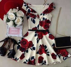 Swans Style is the top online fashion store for women. Shop sexy club dresses, jeans, shoes, bodysuits, skirts and more. Fashion Mode, Teen Fashion Outfits, Girly Outfits, Dress Outfits, Summer Outfits, Fashion Dresses, Floral Outfits, City Fashion, Hoco Dresses